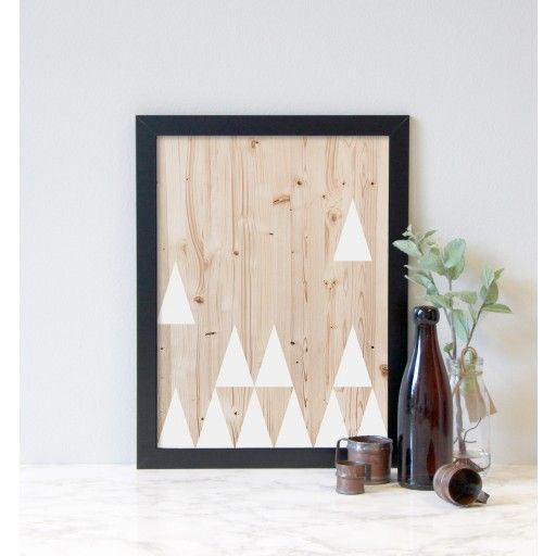 Triangel, trä - 30x40 cm  #nordicdesigncollective