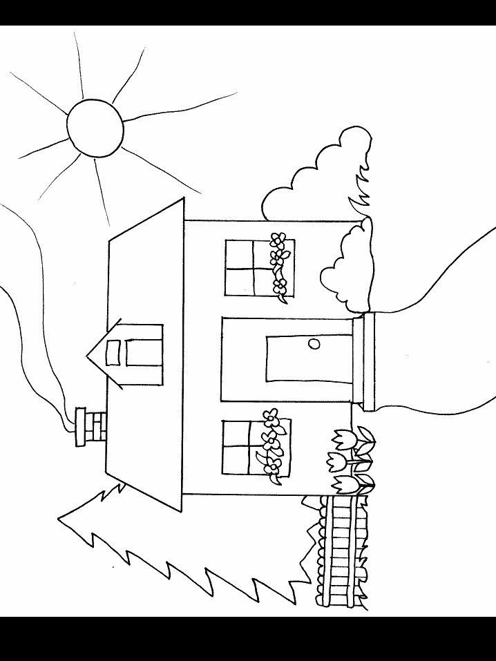 Entry For Drawing And A Gate Giveaway Downloadable Coloring Page Springtime House Custom Baby Gat Spring Coloring Pages Coloring Pages House Colouring Pages