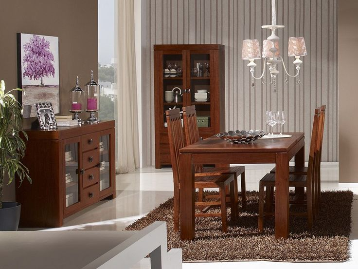 18 best muebles de salon comedor en madera de nogal images for Muebles en arevalo