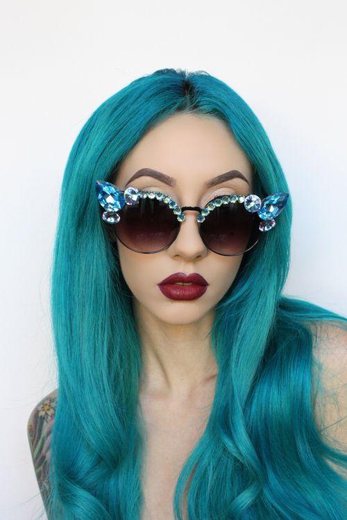 space grunge cute sunglasses cheveux pinterest. Black Bedroom Furniture Sets. Home Design Ideas