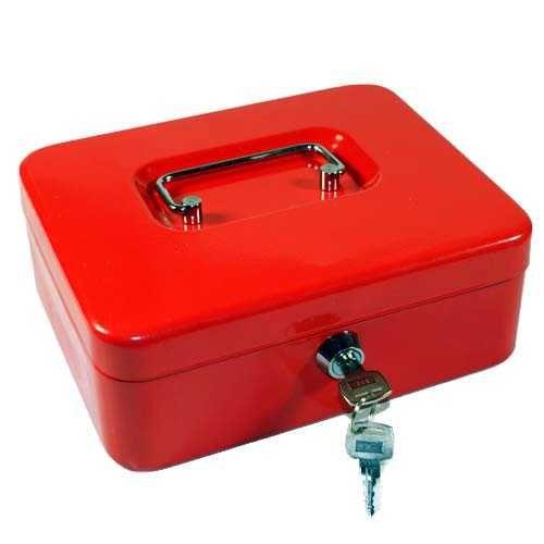 Pénzkazetta és érmetartó tálca - Piros - Közepes méret - Zárható fémkazetta lemez pénz kazetta - Pénzkazetták - 8878M - 3,990Ft - Pénzkazetta és aprópénztartó fémkazetta
