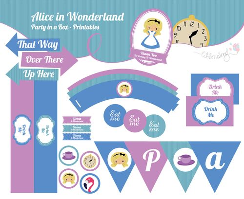 ONLINE STORE - Alice in Wonderland - Party in a box  http://awishawaywhimsical.blogspot.com/p/online-store_8.html#!/~/category/id=8462525&offset=0&sort=normal