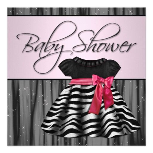 best baby shower invitations pink and black images on, Baby shower invitation