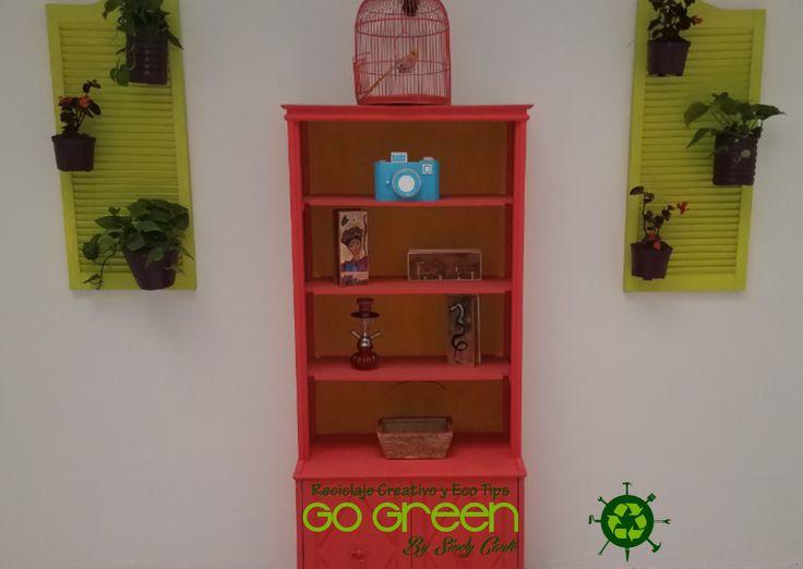 Mini Jardin vertical con ventanales reciclados
