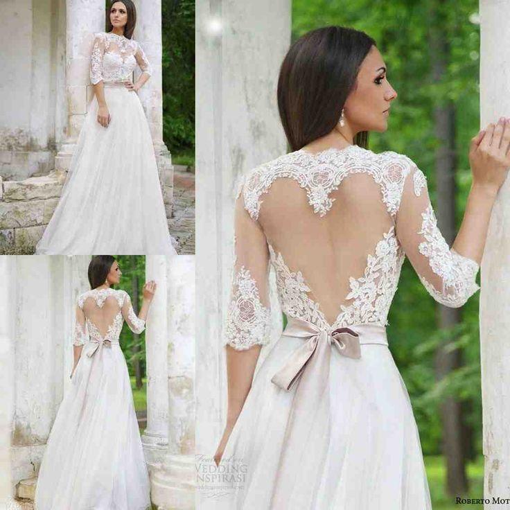 16 best open back wedding dresses images on Pinterest   Short ...