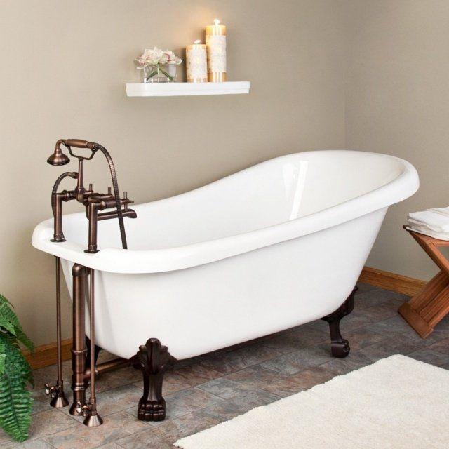 17 meilleures id es propos de baignoire sur pattes sur for Salle de bain avec baignoire sur pied