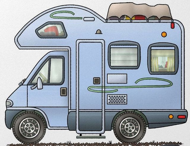 Whimsical Class C Motorhome (pinned by haw-creek.com)