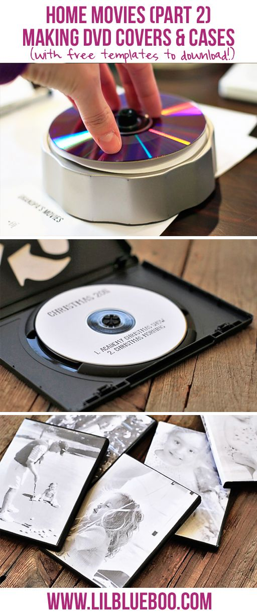 Home Movies 101: How to Make Simple DVD Labels and Case Covers (with free templates)