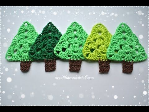 Add Sparkles To Your Holiday With These Adorable Colorful Granny Stars And Trees - Crochet Stitches!