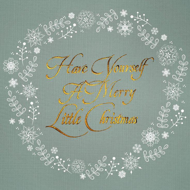 Weihnachtskarte Grafikdesign / Have yourself a merry Little Christmas