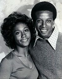 The Jefferson's  Damon Evans and Berlinda Tolbert as Lionel and Jenny (1976