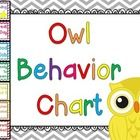 7 levels of behavior tracking for a owl and chevron classroom -Outstanding -Great Day -Good Job -Ready to Learn -Think About It -Teacher Choice -Pa...