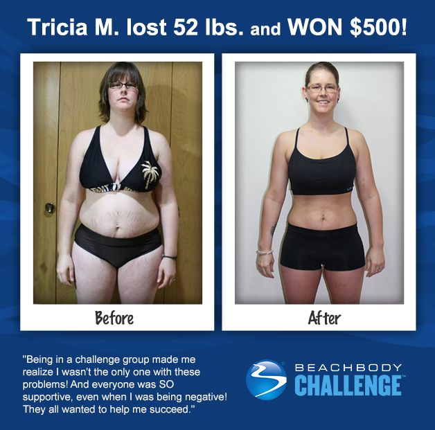 Tricia lost 52 pounds with #Shakeology, #LesMillsCombat and #UltimateReset. Whoa. Like or repin if you love Before and Afters!