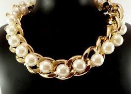Risultati immagini per collares de moda con perlas grandes