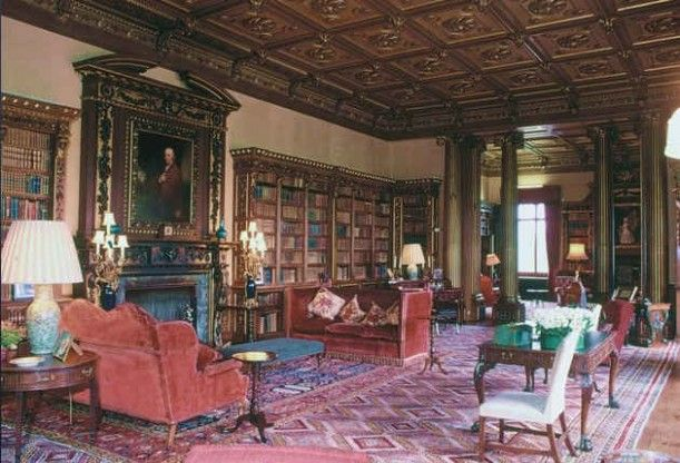 LOVE the library at Highclere Castle as seen in Downton Abbey. It's not rounded or 2 story - but I wouldn't refuse something this grande in the powerball home! :)