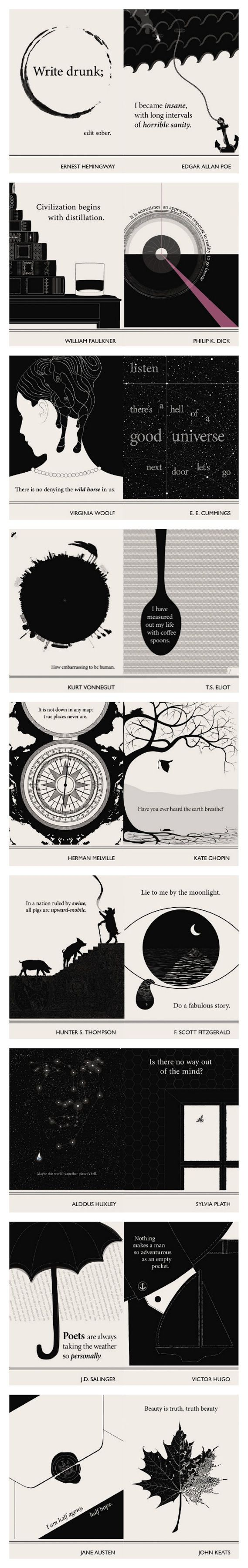 Lovely Literary Art Prints featuring quotes By Famous Authors by Evan Robertson
