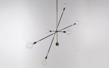 32 of the best floor, table and pendant lights: Apparatus 'Triad 9' chandelier.