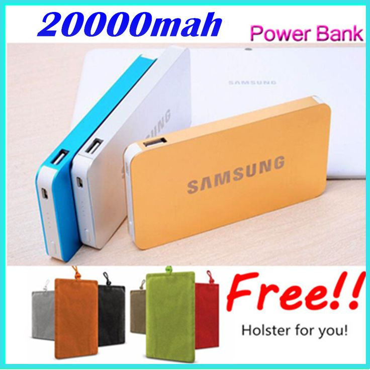 2015 New 20000mah Portable Charger Mobile Power Bank Charging Dual USB External Battery for all phone