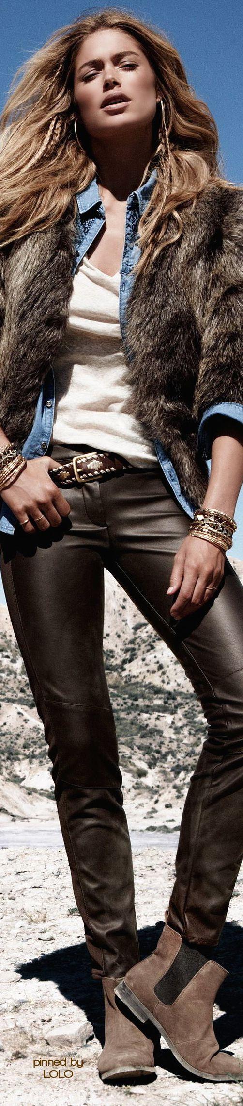 Doutzen Kroes by Daniel Jackson for H&M • ѕтяєєт CHIC • ❤️ Babz ✿ιиѕριяαтισи❀ #abbigliamento
