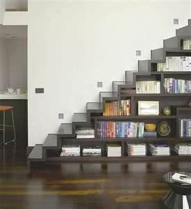 stairs/bookcases together -- so cool!: Books Stairs, Libraries, Stairca Storage, Bookshelf Design, Under Stairs Storage, Books Shelves, Stairca Design, Spaces Save, Storage Ideas
