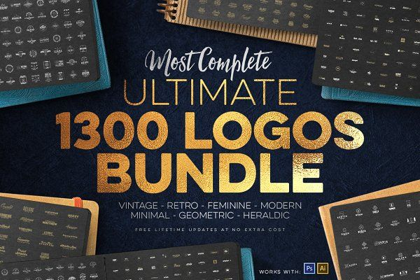 1300 Logos Ultimate Megabundle by Zeppelin Graphics on @creativemarket