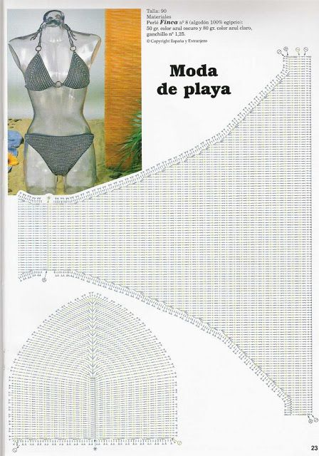crochet bikini bra pattern diagram
