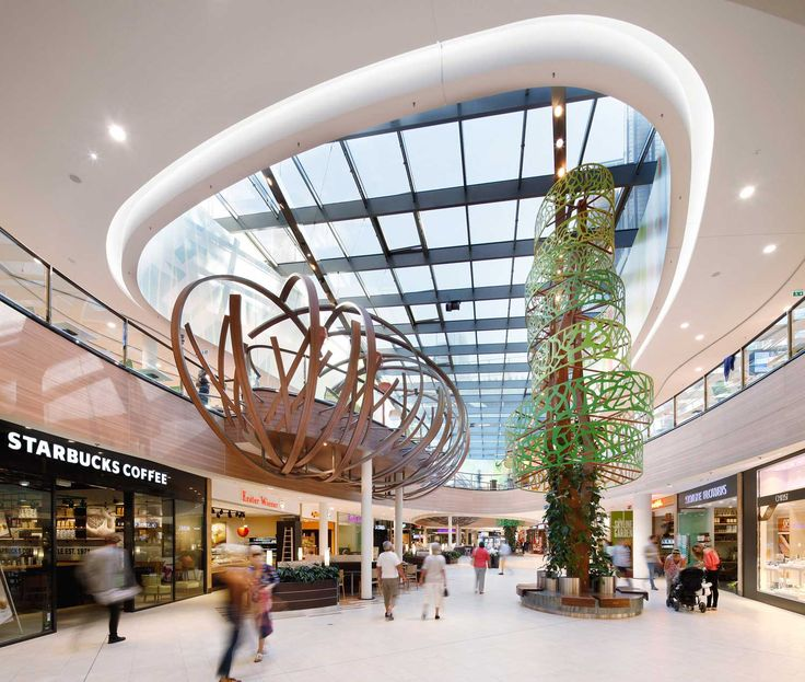 Skyline Plaza Frankfurt Germany Interior Design For 38000m2 Shopping Centre Arranged Over Two