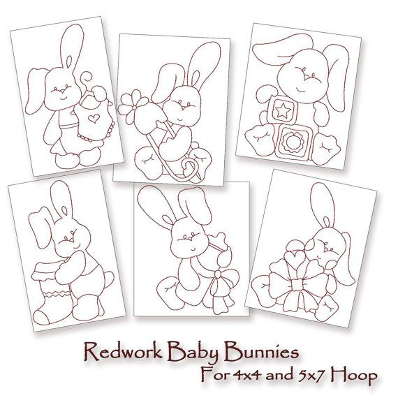 61 Best Redwork Baby Images On Pinterest Embroidery