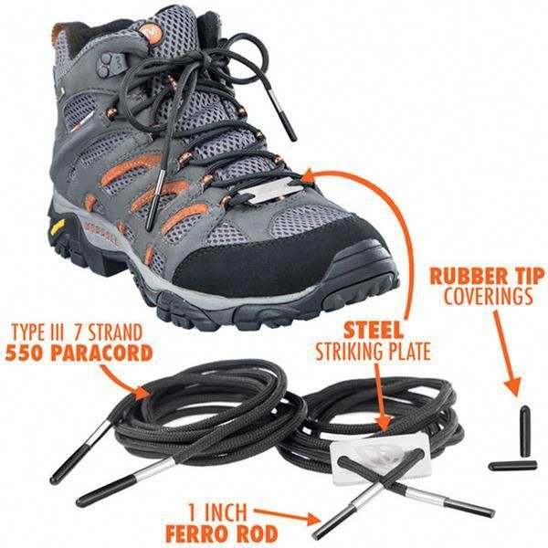Outdoor Survival Kit Hiking Shoe Boot Lace Paracord Emergency 7-Strand
