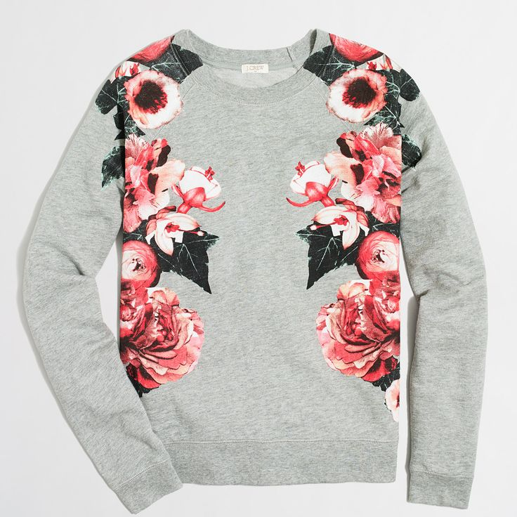 Floral sweatshirt : Knits & T-Shirts | J.Crew Factory