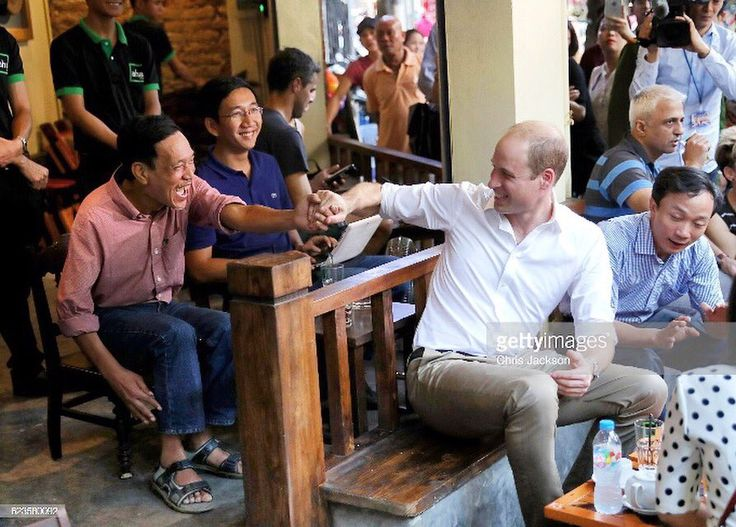 "Chris Jackson on Twitter: ""The Duke of Cambridge meeting locals in #Hanoi today #royalvisitvietnam @gettyimages"
