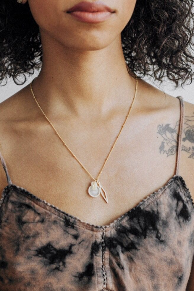 16e2330e863a0c Looking for the perfect summer accessory? Check out the Rose Quartz Necklace  by KITSCH!
