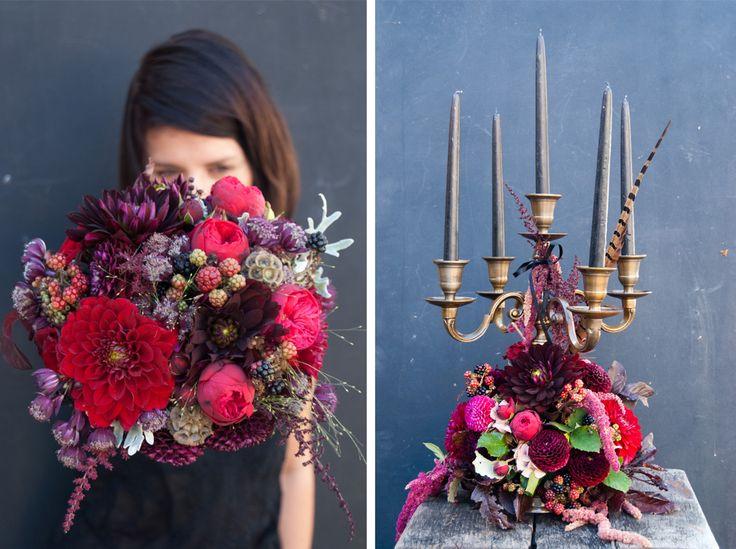 autumn/ dark/ dahlia / rose /
