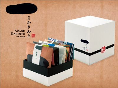 karinto (sweet fried dough cake), designed by MINIRA CREATIVE Inc. #japanese #package #design