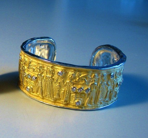 Museum-Schmuck Gold vergoldet Sterling Silber von jewelAbench