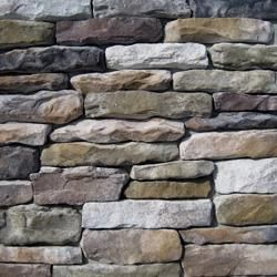 Black Bear Manufactured Stone - Southern Stacked Stone Buck Mountain / Stacked Stone 10 sq ft Flat