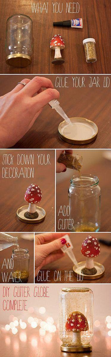 手工 DIY一个梦幻的雪景玻璃瓶,你需要一个果酱…
