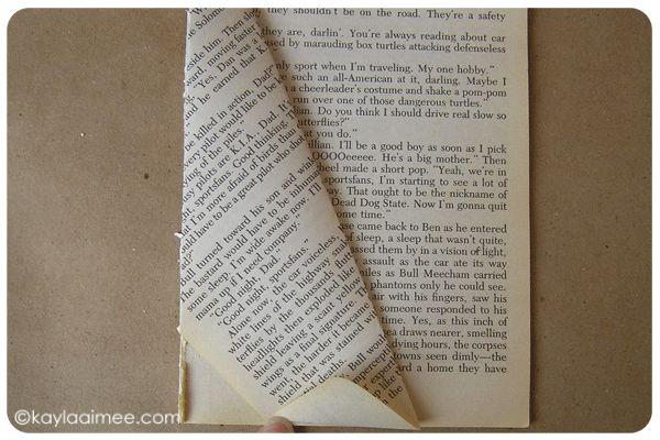 Paperback Christmas Tree Tutorial Step 9b