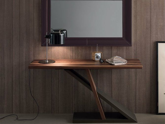 WOOD MODERN CONSOLE TABLE | The perfect slim console table for romantic environment | http://modernconsoletables.net/
