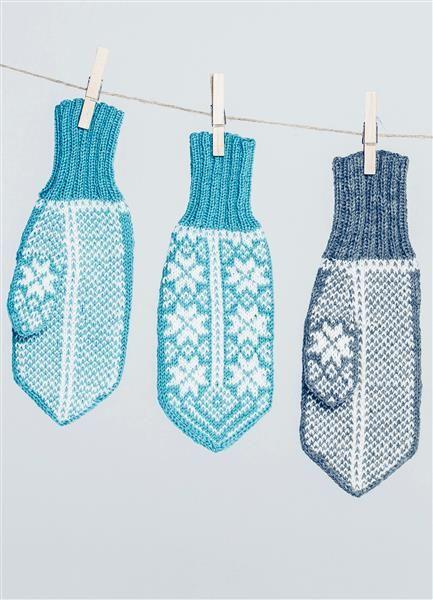 Tema 42: Modell 32 Fana votter #strikk #knit #Fana