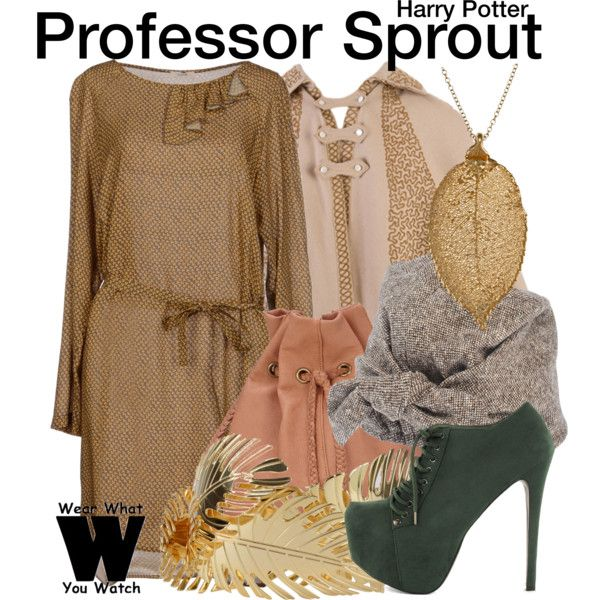 Inspired by Miriam Margolyes as Professor Sprout in the Harry Potter film franchise.