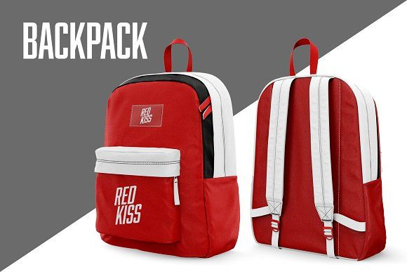 Download Backpack Mockup By Red Kiss On Creativemarket