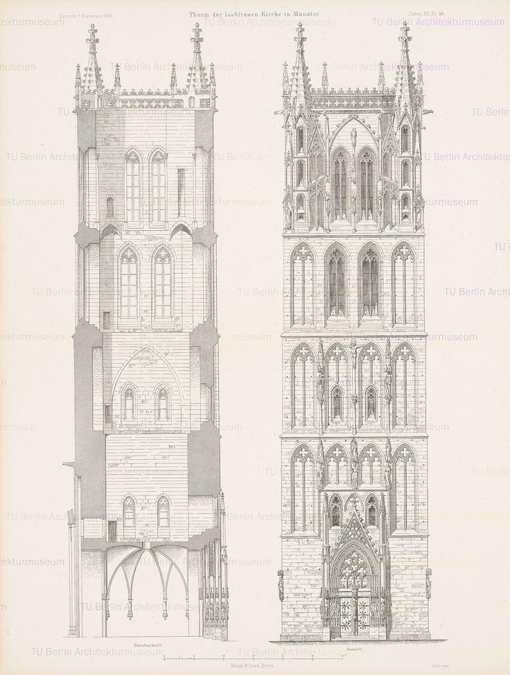Titel   Liebfrauenkirche, Münster. (Aus: Atlas zur Zeitschrift für Bauwesen, hrsg. v. G. Erbkam, Jg. 20, 1870.) | N.N.  Liebfrauenkirche, Münster. (Aus: Atlas zur Zeitschrift für Bauwesen, hrsg. v. G. Erbkam, Jg. 20, 1870.) | N.N.