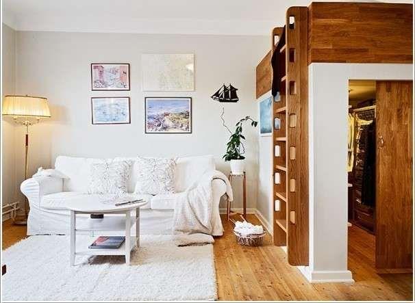 Idee per interni piccoli - Stanza con struttura per letto