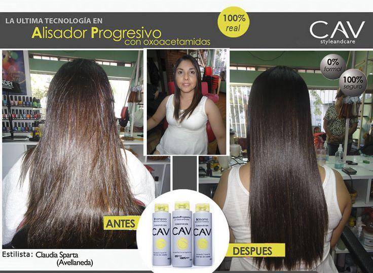 Antes y después sobre cabello natural