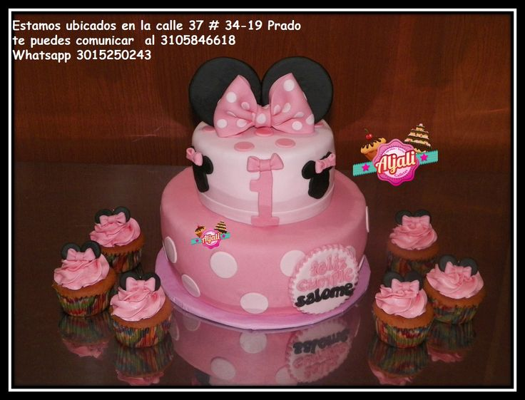 minnie mouse torta , cake, cupcakes