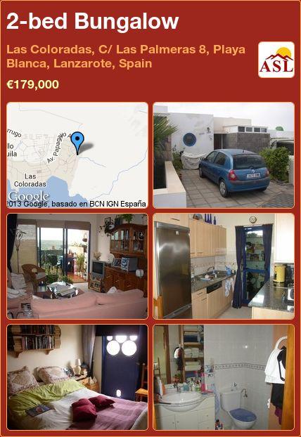 2-bed Bungalow in Las Coloradas, C/ Las Palmeras 8, Playa Blanca, Lanzarote, Spain ►€179,000 #PropertyForSaleInSpain