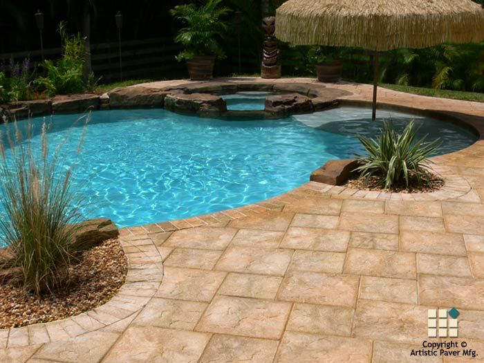 pool patio with pavers | Pool Pavers Photo Gallery - Artistic Paver Mfg.