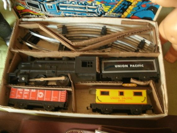 Vintage Marx Windup Toy Train with Box by NeverTooOld on Etsy