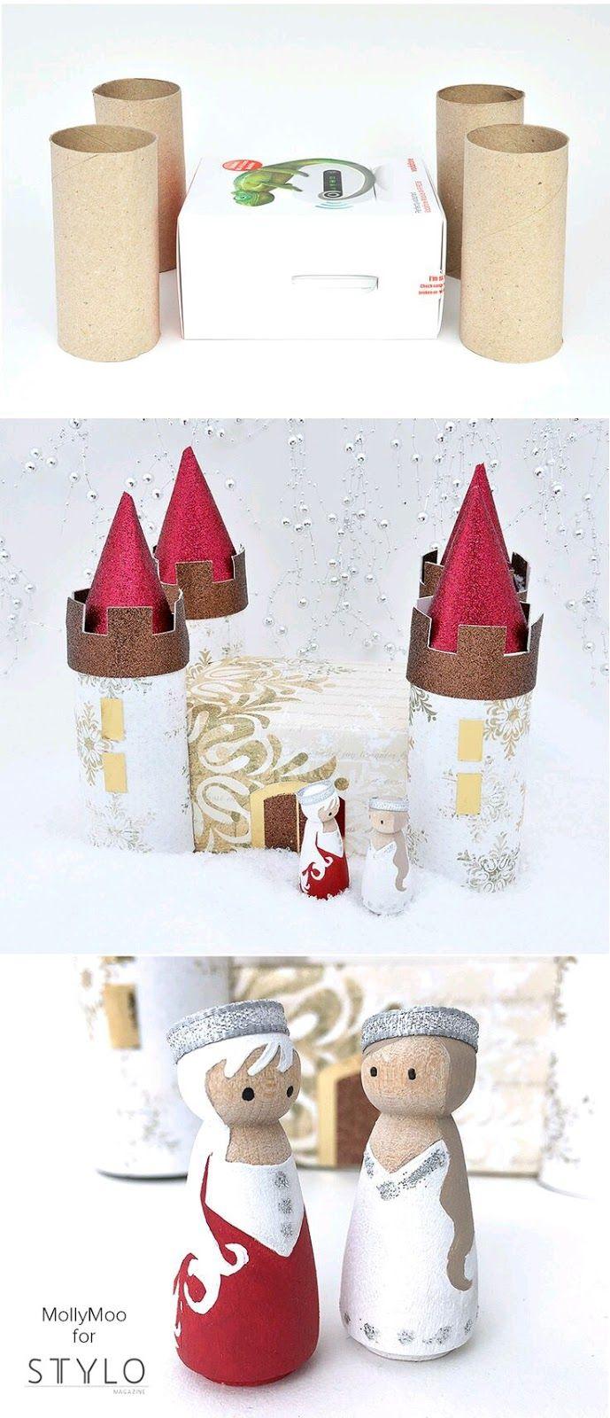 Unas cuantas cajas y tubos de cartón es todo lo que necesitas para empezar a crear hermosos castillos de juguete con lo que tus niños pasará...